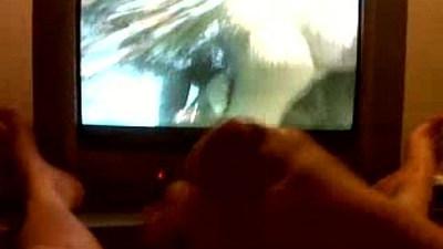 cumming while watching porn