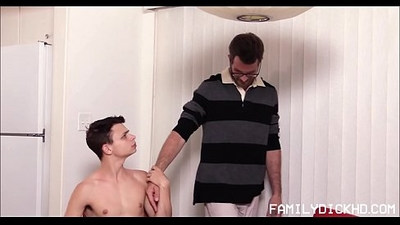 Young Twink Stepson And His Stepdad Have Sex After School