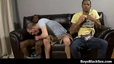 Sexy black gay boys fuck white dudes hardcore