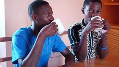 Black african twinks blowjob and piss party