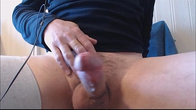 My solo Squatting and jerking thick cum out hard cock