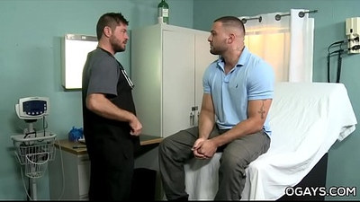 Hairy gay men fuck in the hospital