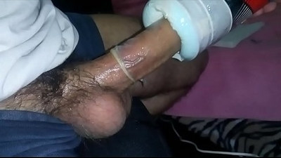 Creampie in my homemade fakepussy