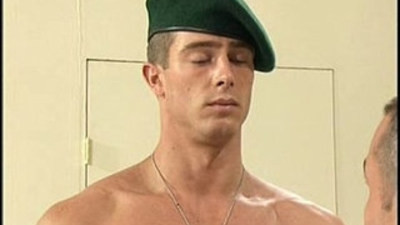 Military Nude Files Foreign Hung Private Marine Pavel is stripped naked by USA army captain
