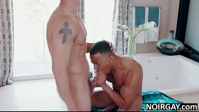 Black and white roommates gay interracial sex