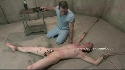Strong hard gay pervert bondage sex